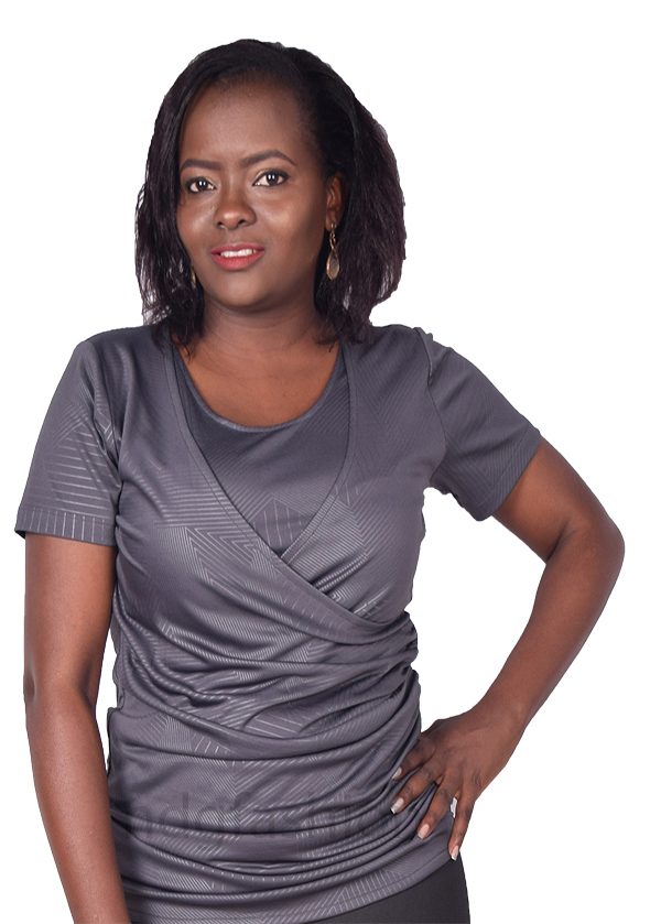 Grey watermarked, crossover breastfeeding top-front-ndg-fashion