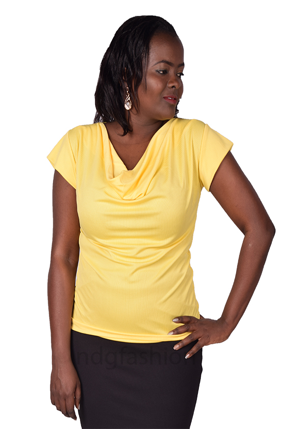 32. yellow, cowl neck top-front-ndg-fashion