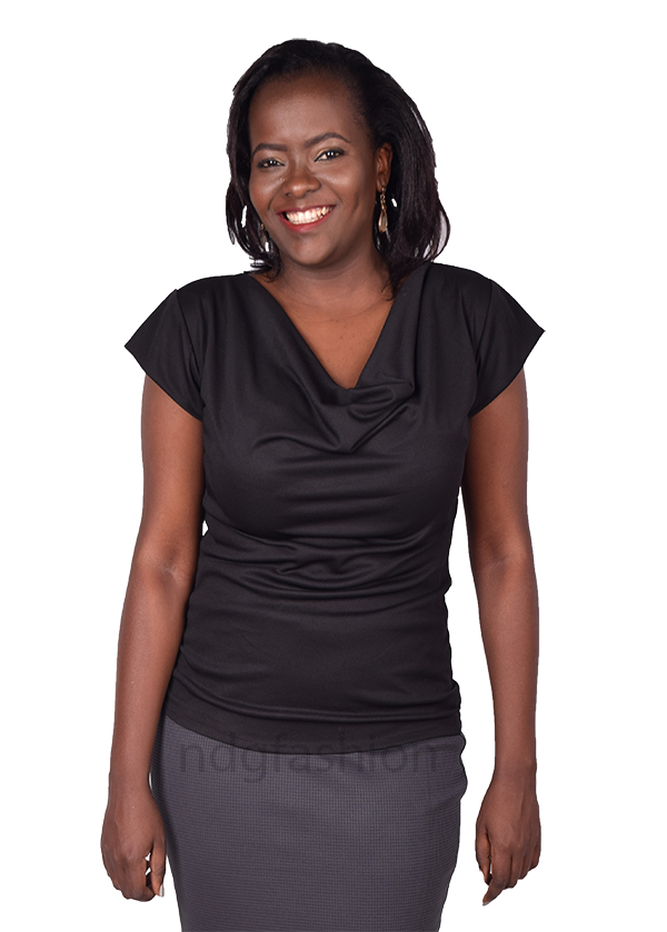 35. Black, cowl neck top-front-ndg-fashion