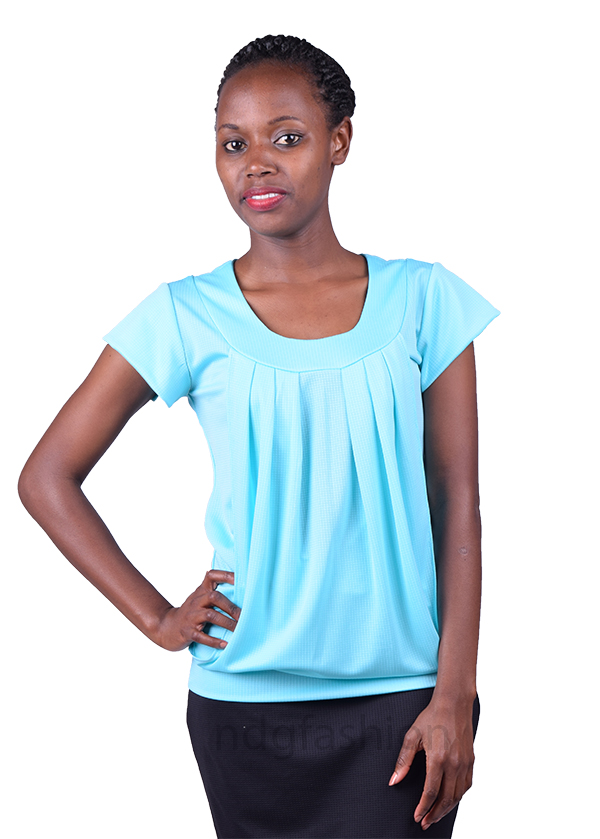 8. Light green, roundneck, breastfeeding top-front-ndg-fashion